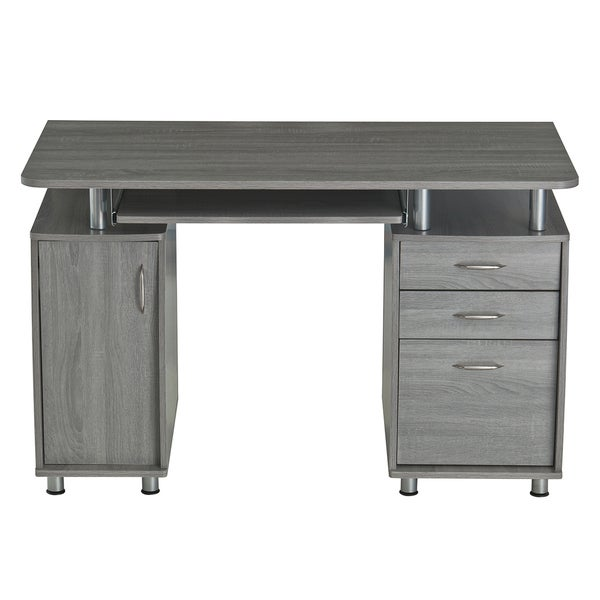 Modern Designs Grey MDF Multifunctional Office Desk With File ...