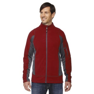 Generate Textured Fleece Men's Big and Tall Classic Red 850 Jacket