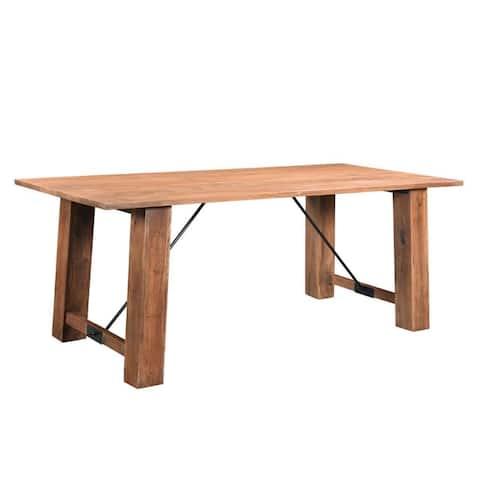 Timbergirl Angled Acacia wood Dining Table - Brown