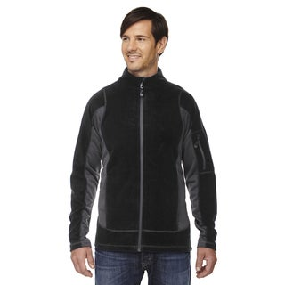 Generate Textured Fleece Men's Black 703 Jacket
