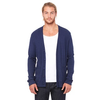 Unisex Big and Tall Triblend Midnight Navy Cardigan