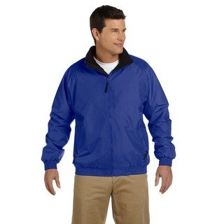 Fleece-Lined Nylon Men's Big and Tall True Royal/Black Jacket