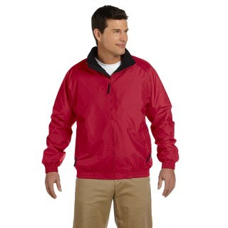 Fleece-Lined Nylon Men's Big and Tall Red/Black Jacket