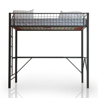 Furniture of America Born Racer Metal Twin Loft Bed