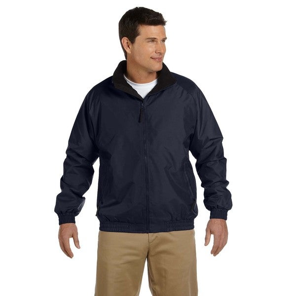 Fleece-Lined Nylon Mens Big and Tall Navy/Black Jacket