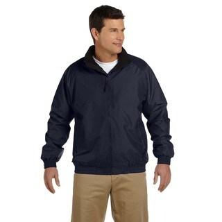 Fleece-Lined Nylon Men's Big and Tall Navy/Black Jacket