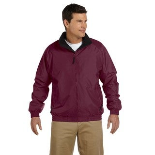 Fleece-Lined Nylon Men's Maroon/Black Jacket
