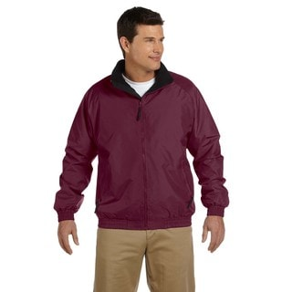 Fleece-Lined Nylon Men's Big and Tall Maroon/Black Jacket