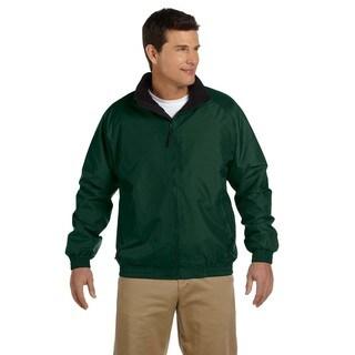 Fleece-Lined Nylon Men's Big and Tall Hunter/Black Jacket (3 options available)