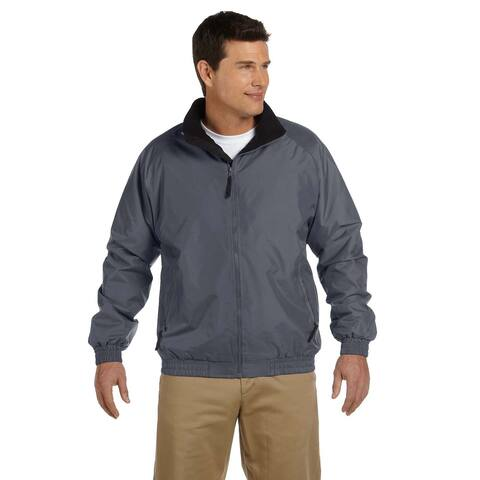 Fleece-Lined Nylon Men's Big and Tall Graphite/Black Jacket