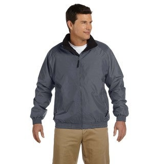 Fleece-Lined Nylon Men's Big and Tall Graphite/Black Jacket (3 options available)