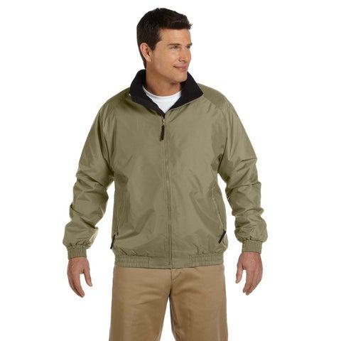 Fleece-Lined Nylon Men's Big and Tall British Khaki/Black Jacket