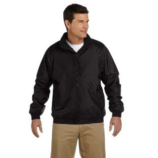 Fleece-Lined Nylon Men's Big and Tall Black/Black Jacket