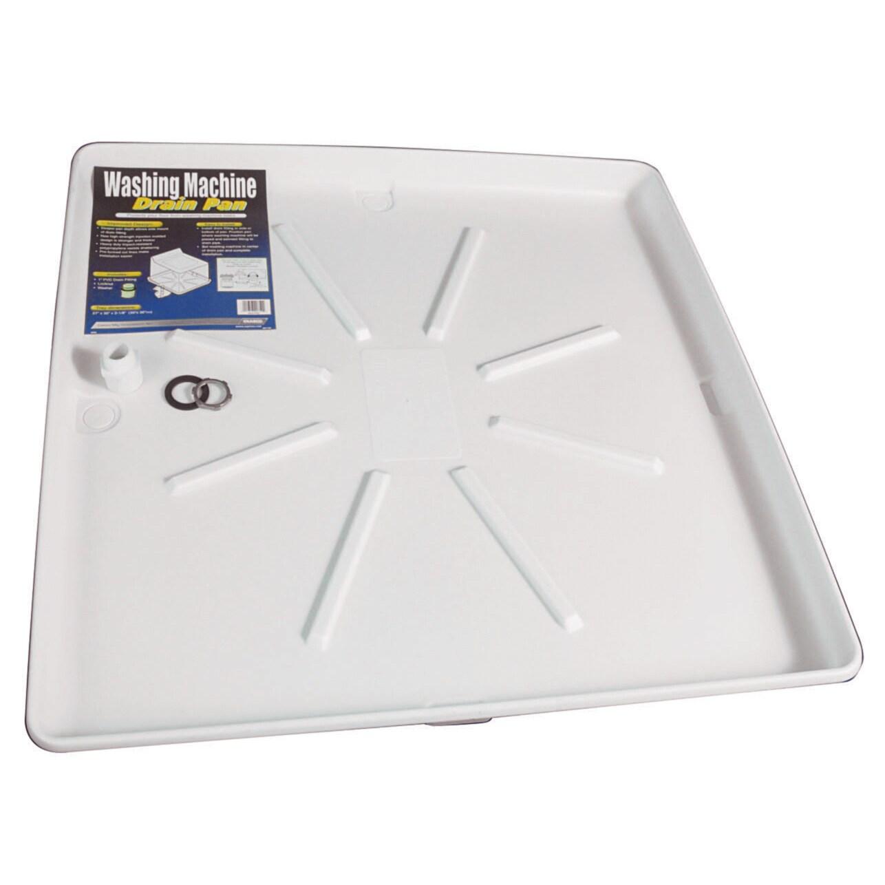 Shop Camco 20752 30 X 32 White Washing Machine Pan Overstock 12556321