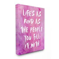 lulusimonSTUDIO 'Life's as Kind as the People You Fill It With' Stretched Canvas Wall Art