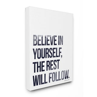 Stupell lulusimonSTUDIO 'Believe in Yourself' Glam Stretched Canvas Wall Art