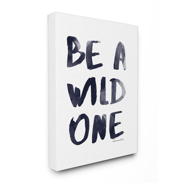 Stupell lulusimonSTUDIO 'Be A Wild One' Watercolor Glam Stretched Canvas Wall Art