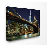 Stupell 'NYC at Night' Stretched Canvas Wall Art