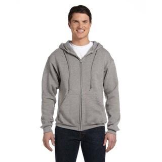 Dri-Power Men's Big and Tall Fleece Oxford Full-Zip Hood