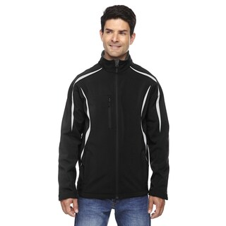 Enzo Colorblocked Three-Layer Fleece Bonded Soft Shell Men's Black 703 Jacket