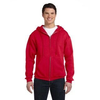 Dri-Power Men's Fleece True Red Full-Zip Hood