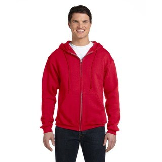 Dri-Power Men's Big and Tall Fleece True Red Full-Zip Hood