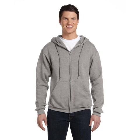 Dri-Power Men's Fleece Oxford Full-Zip Hood
