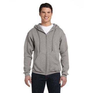 Dri-Power Men's Fleece Oxford Full-Zip Hood