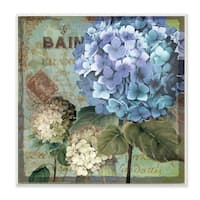 'Colorful Hydrangeas with Antique French Backdrop' Wall Plaque Art