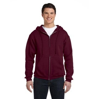 Dri-Power Men's Fleece Maroon Full-Zip Hood