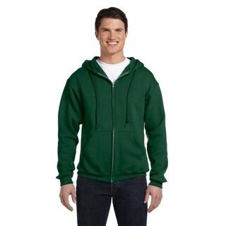 Dri-Power Men's Fleece Dark Green Full-Zip Hood