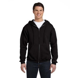 Dri-Power Men's Big and Tall Fleece Black Full-Zip Hood