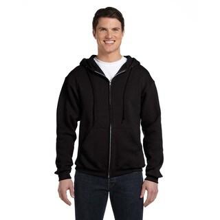 Dri-Power Men's Big and Tall Fleece Black Full-Zip Hood