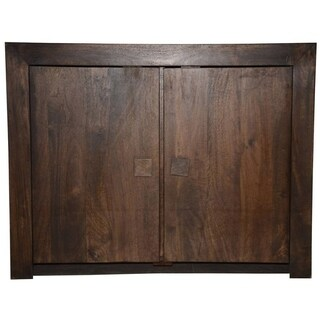 Hand Finished Brown Solid Wood Sideboard