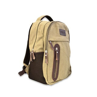 Renogy Beige/Brown Canvas Hiking Backpack