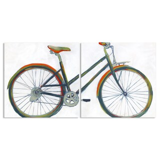 Stupell 'Colorful Bicycle' 2-piece Stretched Canvas Wall Art Set - 17 x 17