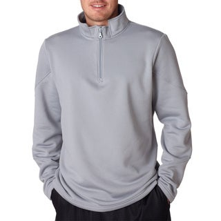 Cool and Dry Men's Big and Tall Sport Steel Quarter Zip Fleece