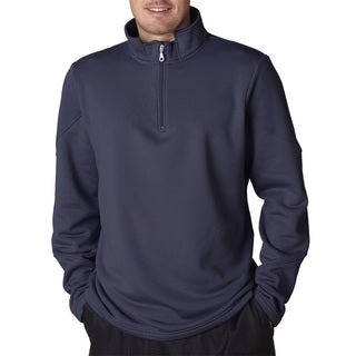 Cool and Dry Men's Big and Tall Sport Navy Quarter Zip Fleece