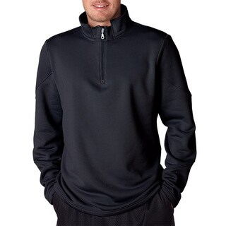 Cool and Dry Men's Big and Tall Sport Black Quarter Zip Fleece