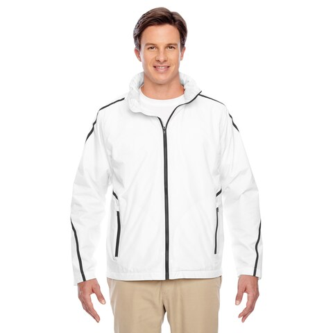 Conquest Men's Big and Tall White Jacket with Fleece Lining