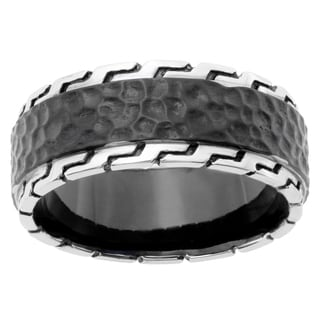 Men's Stainless Steel Hammered Texture Band