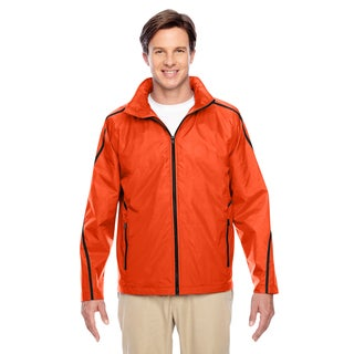 Conquest Men's Big and Tall Sport Orange Jacket with Fleece Lining