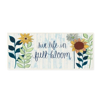Stupell 'Live Life in Full Bloom With Flowers' Wall Plaque Art on Wood