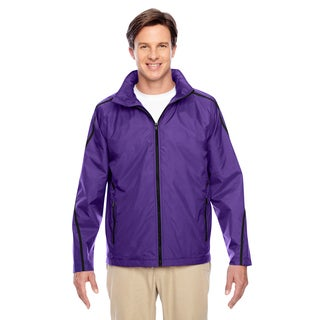 Conquest Men's Big and Tall Sport Purple Jacket with Fleece Lining