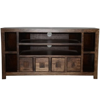 Y-decor Revere Mango Wood 41-inch TV Corner Console and Cabinet