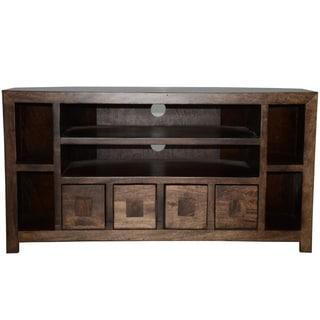 Y-decor Revere Mango Wood 41-inch TV Corner Console and Cabinet