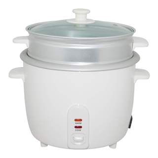 Wee Beyond White 5-cup Electric Rice Cooker With Steamer