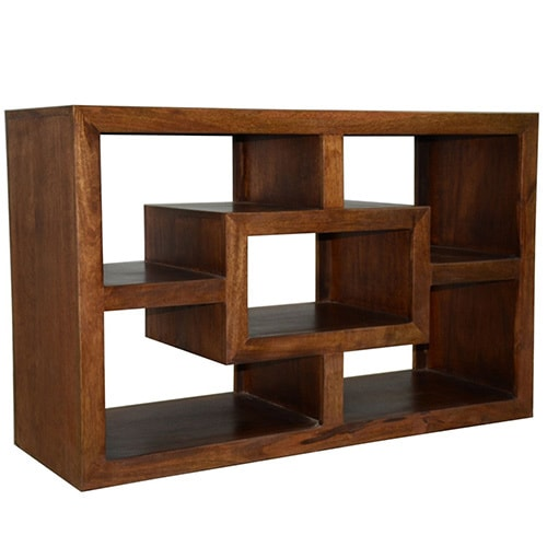 Shop Y Decor 43 Inch Wide Brown Finish Tv Cabinet N A Free