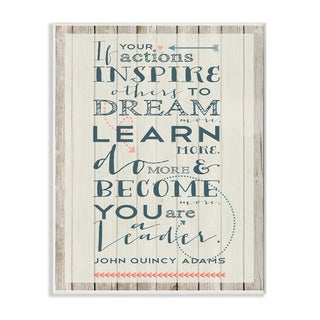 Stupell 'Actions Inspire' Quote Wall Plaque Art