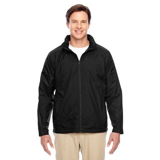Conquest Men's Big and Tall Black Jacket with Fleece Lining